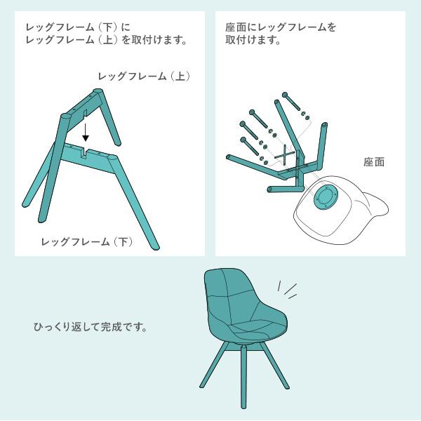 足を組み合わせるだけの簡単組み立て受け取り後すぐにご利用いただけます