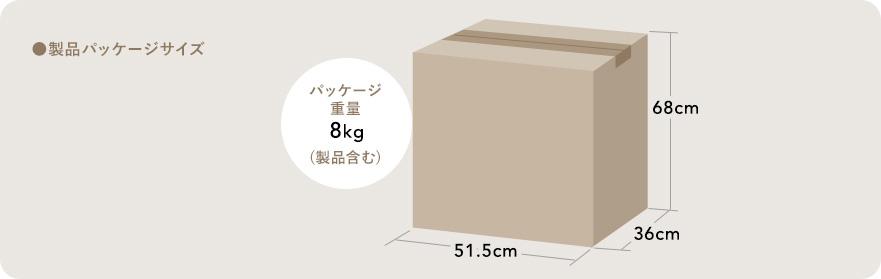 製品パッケージサイズ パッケージ重量8kg