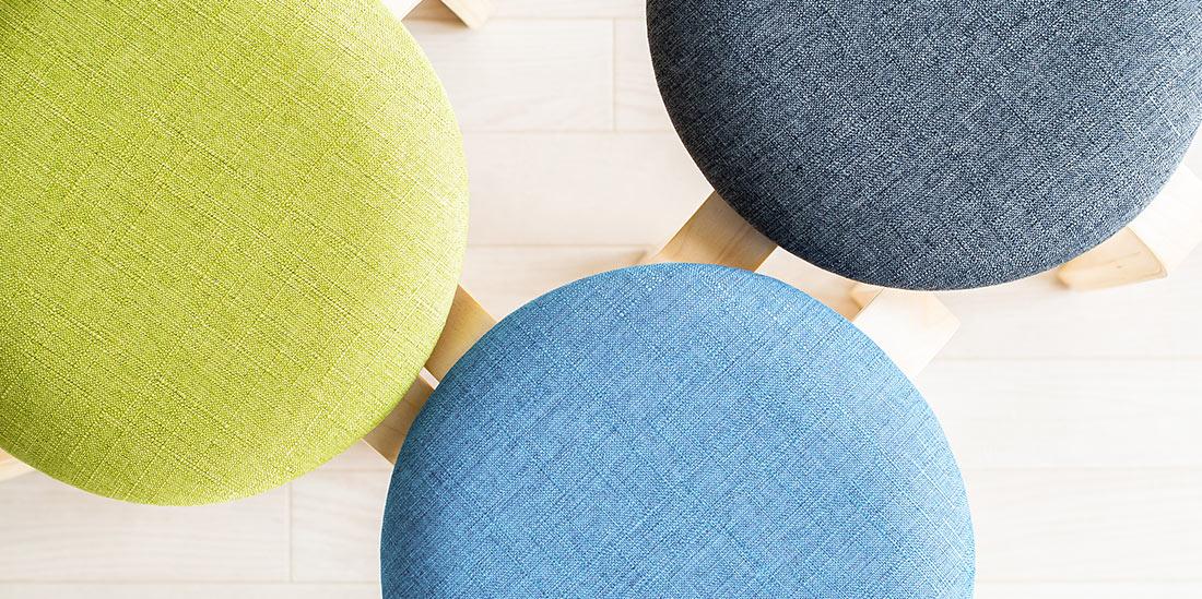 布の質感がお部屋の雰囲気を優しくしてくれる
