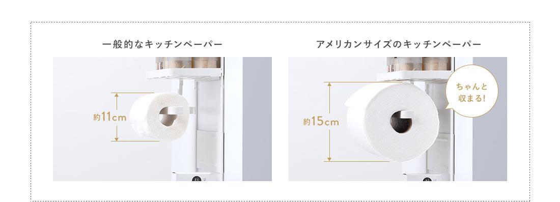 一般的なキッチンペーパーとアメリカンサイズのキッチンペーパー