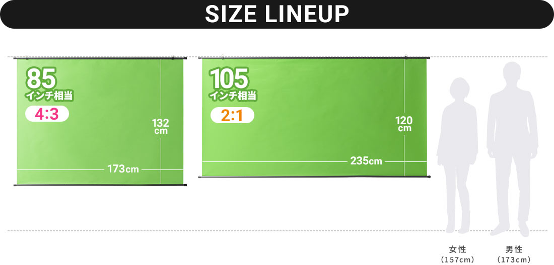 SIZE LINEUP