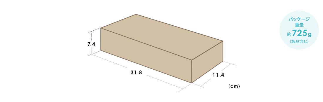 パッケージ重量 約725g