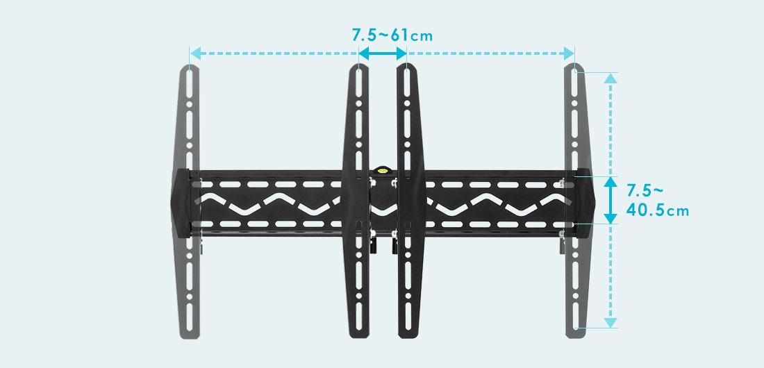 7.5~61cm 7.5~40.5cm