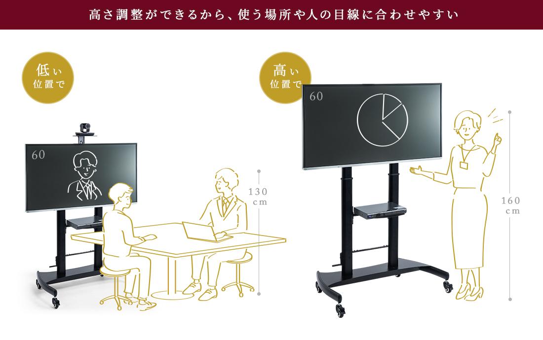 60~100インチの大型テレビに対応