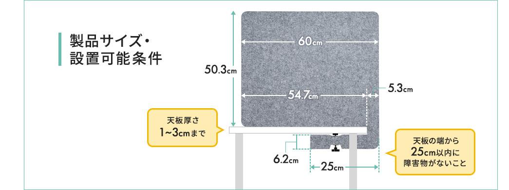 製品サイズ・設置可能条件