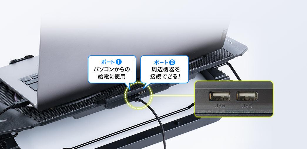 パソコンからの給電に使用 周辺機器を接続できる!