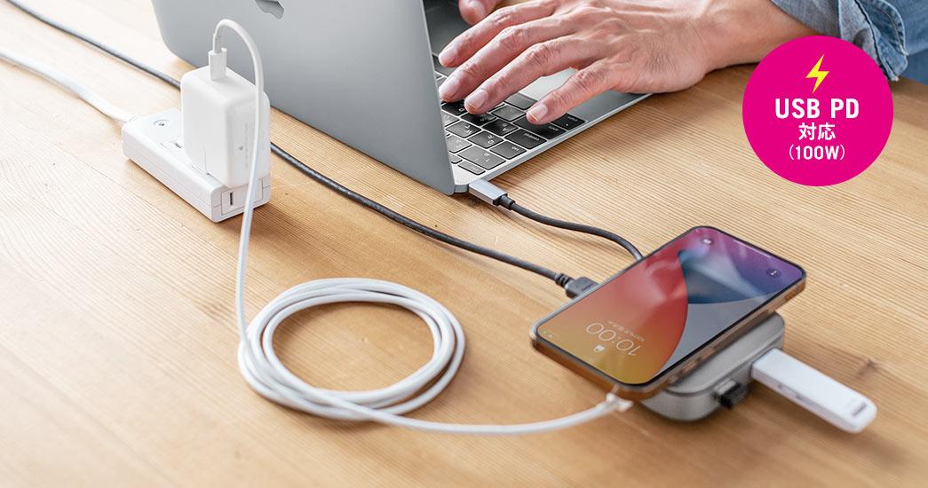 USB PD対応(100W)