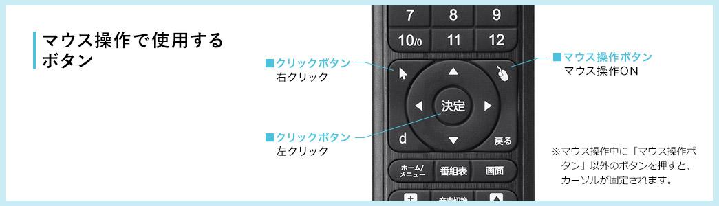 マウス操作で使用するボタン