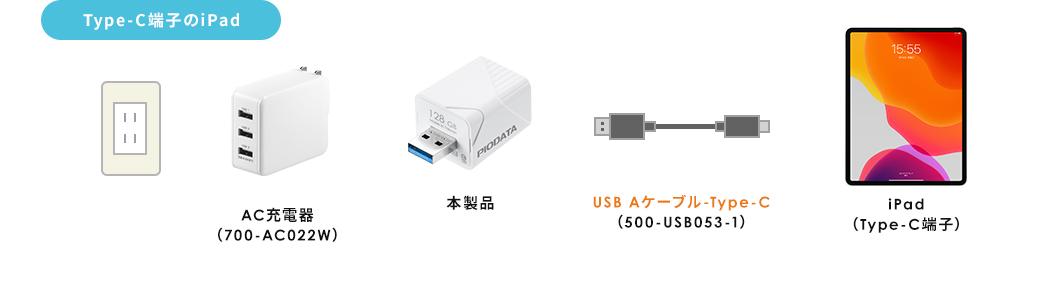 Type-C端子のiPad