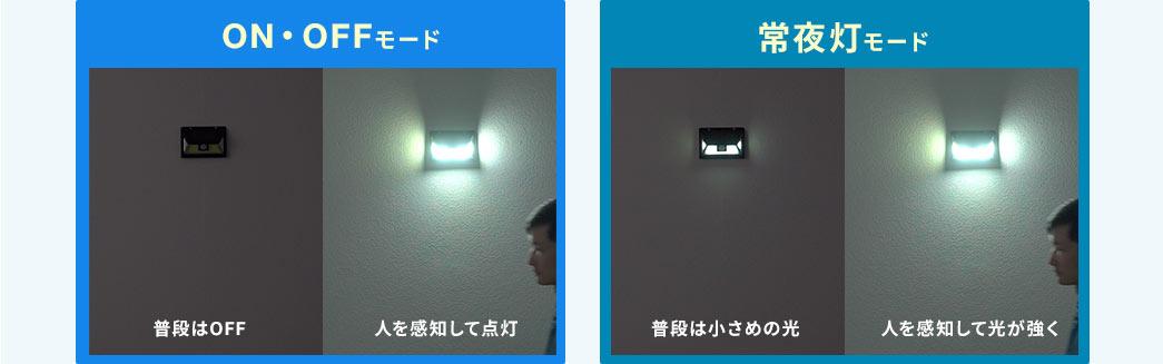 ON・OFFモード 常夜灯モード