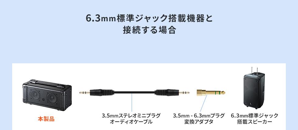 6.3mm標準ジャック搭載機器と接続する場合