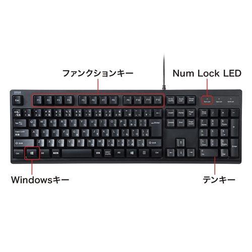 標準日本語配列の日本語109キーボード