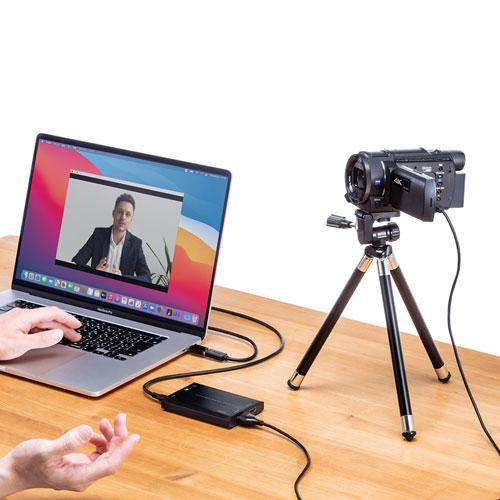 ビデオカメラ・デジカメをWEBカメラ化!