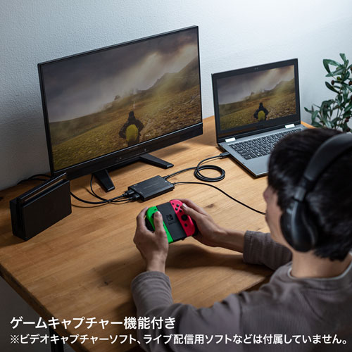 ゲームのプレイ画面の取り込みも可能