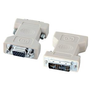 ミニD-sub(HD)15pinオスコネクタをDVI29pinオスに変換するアダプタ。AD-DV02K サンワサプライ