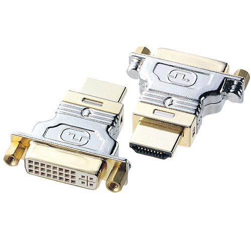 DVIケーブルを変換しHDMIコネクタに接続するための変換アダプタ。