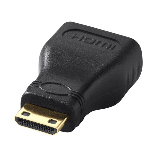 HDMIオスコネクタをミニHDMIオスコネクタに変換するHDMIアダプタ。