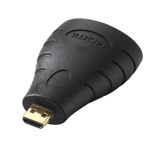 HDMIオスコネクタをマイクロHDMIオスコネクタに変換するアダプタ。