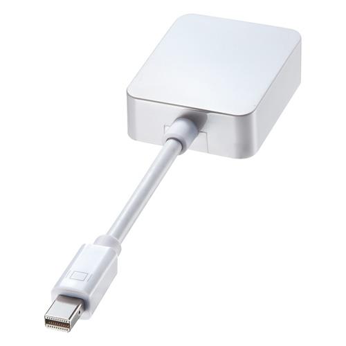 Mini DisplayPortをHDMI 4K出力に変換するアダプタ。AD-MDPHD008 サンワサプライ