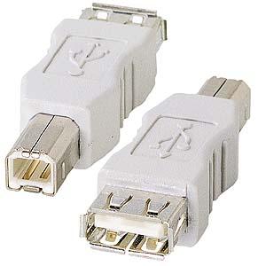 USB Bコネクタオス・USB Aコネクタメス