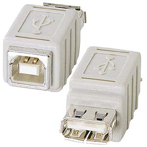 USB Bコネクタメス・USB Aコネクタメス
