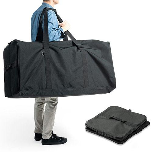 ボストンバッグ(超大容量・特大・210リットル・布団・軽い・スポーツ・旅行・アウトドア・たためる・布製・黒) EEX-BG03 イーサプライ