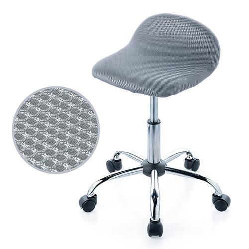 丸椅子(キャスター・昇降式・高さ調整・スツール・メッシュ・オフィス・ミーティング・おしゃれ・グレー) EEX-CH31GY イーサプライ