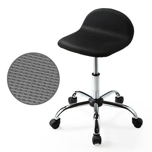 丸椅子(キャスター・昇降式・高さ調整・スツール・メッシュ・オフィス・ミーティング・おしゃれ・黒) EEX-CH31 イーサプライ