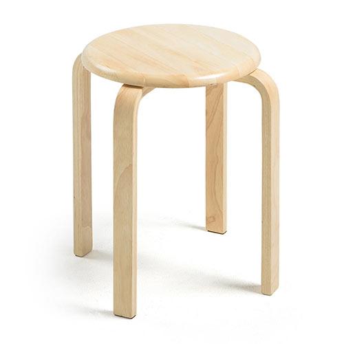 丸椅子(木製・天然木・スツール・スタッキング・ナチュラル・補助 ...