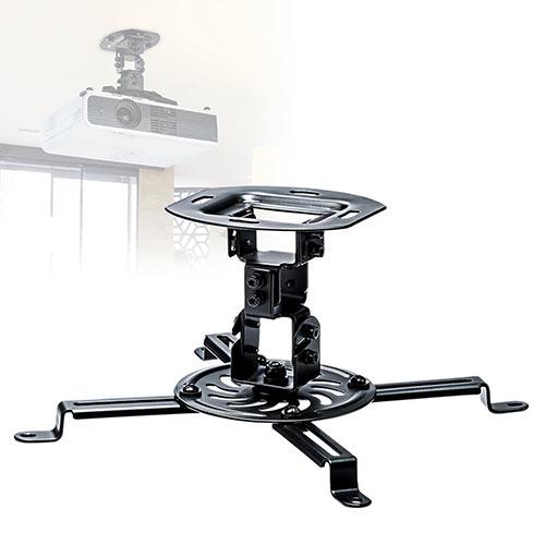 プロジェクター天吊り金具(壁・アーム・ラック・汎用・角度・回転・小型・ネジ付)