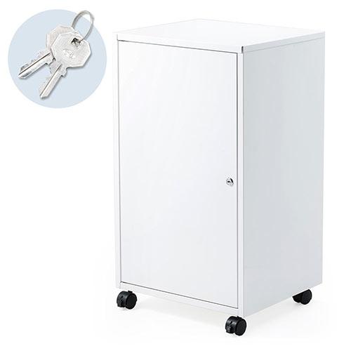 大事な書類や備品・機器などを保管できる鍵付きセキュリティボックスです。移動に便利なキャスター付きです。ロッカーやご家庭の保管庫としてもおすすめです。