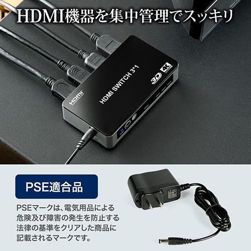 HDMI機器を集中管理、見た目すっきり