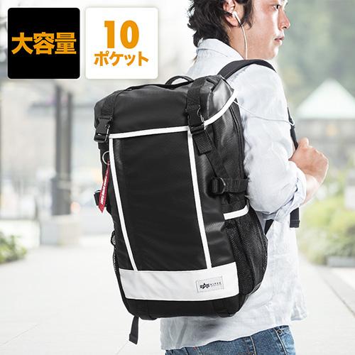 24a23bc7d7ba スクエアリュック・バックパック(メンズ・通学・通勤・iPad・PC収納・A4 ...