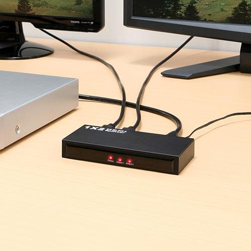 HDMI分配器(HDMIスプリッター・1入力×2出力)