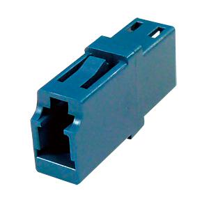 光ファイバケーブルを簡単に延長可能な光アダプタ。LCコネクタ-LCコネクタ。