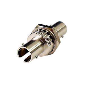 光ファイバケーブルを簡単に延長可能な光アダプタ。STコネクタ-STコネクタ。