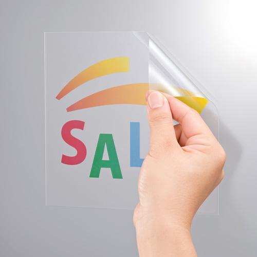 カラーレーザー用透明フィルムラベル(A4・再剥離・POP用) LB-ELM10GP サンワサプライ