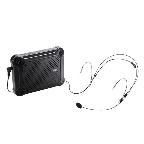 ポータブル拡声器(防水・小型・スピーカー・ヘッドマイク・コンパクト・電池・音楽・同時・ストラップ・ハンズフリー・16W) MM-SPAMP6 サンワサプライ
