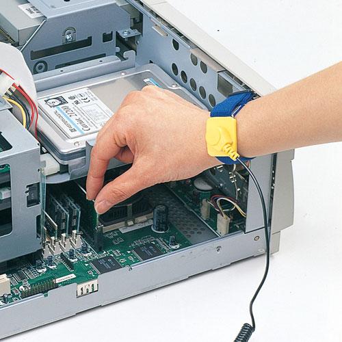 静電気放電から電子機器を守る。静電気防止リストバンド TK-SE6 サンワサプライ