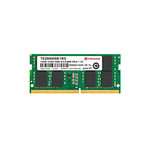 ノートPC用メモリ(Transcend・16GB・DDR4-2666・PC4-21300・SO-DIMM・TS2666HSB-16G)