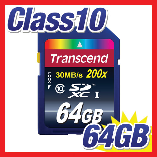 SDXCカード 64GB・class10 Ultimate TS64GSDXC10 Transcend