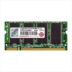 512MB Memory for NotePC/DDR-333(PC-2700) TS64MSD64V3J Transcend