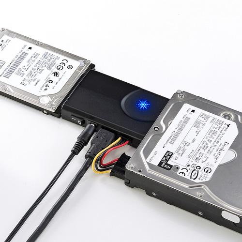 SATAとIDEドライブをUSB3.0で2台同時接続できる変換ケーブル。